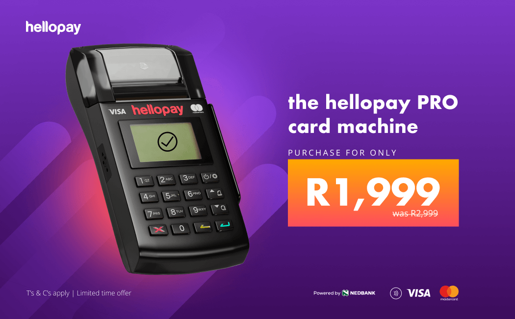 the hellopay pro card machine